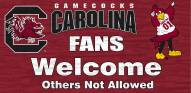 South Carolina Gamecocks Fans Welcome Wood Sign