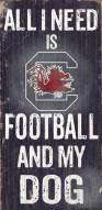 South Carolina Gamecocks Football & Dog Wood Sign