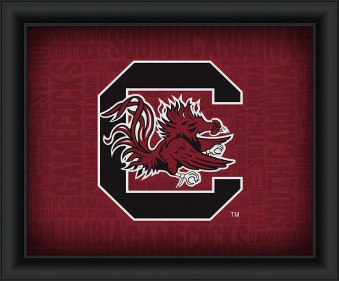 South Carolina Gamecocks Framed Word Cloud