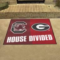South Carolina Gamecocks/Georgia Bulldogs House Divided Mat