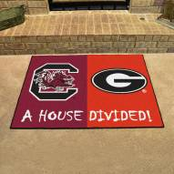 South Carolina Gamecocks/Georgia Bulldogs House Divided Mat