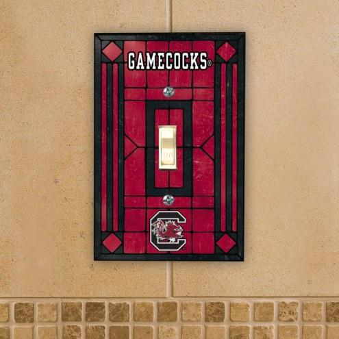 South Carolina Gamecocks Glass Single Light Switch Plate Cover