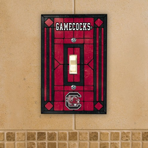 South Carolina Gamecocks Glass Single Light Switch Plate Cover