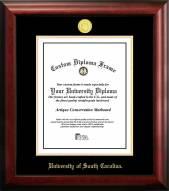 South Carolina Gamecocks Gold Embossed Diploma Frame