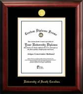 South Carolina Gamecocks Gold Embossed Diploma Frame