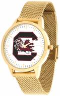 South Carolina Gamecocks Gold Mesh Statement Watch