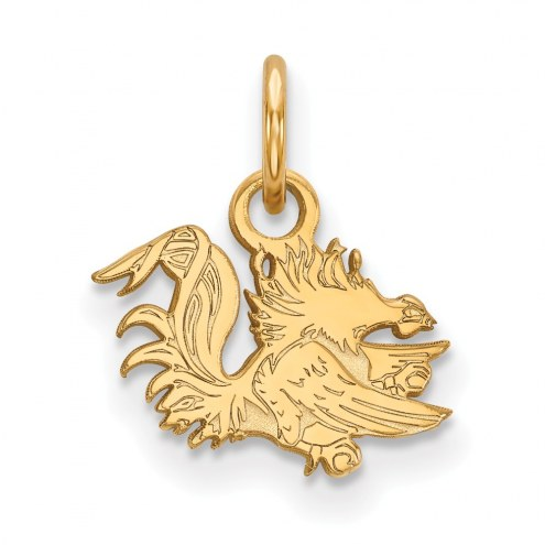 South Carolina Gamecocks Sterling Silver Gold Plated Extra Small Pendant