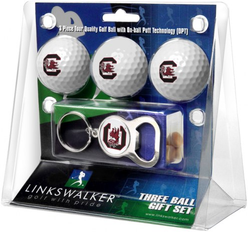 South Carolina Gamecocks Golf Ball Gift Pack with Key Chain