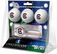 South Carolina Gamecocks Golf Ball Gift Pack with Kool Tool