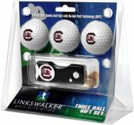 South Carolina Gamecocks Golf Ball Gift Pack with Spring Action Divot Tool