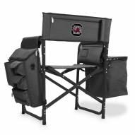 South Carolina Gamecocks Gray/Black Fusion Folding Chair
