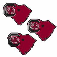 South Carolina Gamecocks Home State Decal - 3 Pack