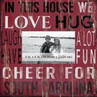 """South Carolina Gamecocks In This House 10"""" x 10"""" Picture Frame"""