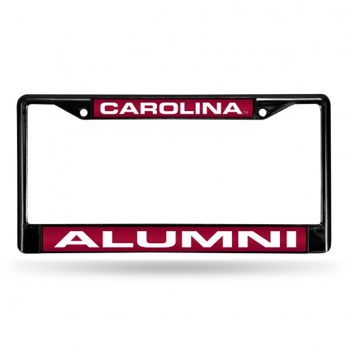 South Carolina Gamecocks Laser Black License Plate Frame