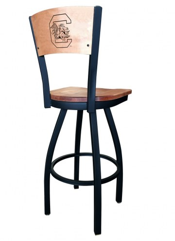 South Carolina Gamecocks Laser Engraved Logo Swivel Bar Stool