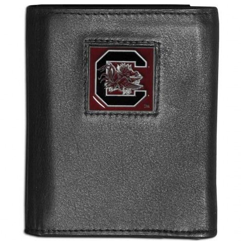 South Carolina Gamecocks Leather Tri-fold Wallet
