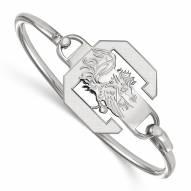 South Carolina Gamecocks Sterling Silver Wire Bangle Bracelet