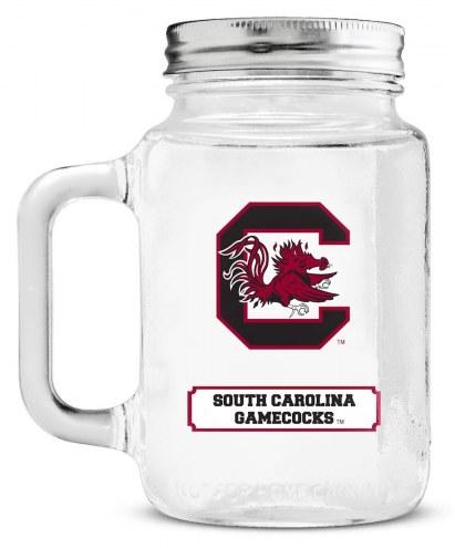 South Carolina Gamecocks Mason Glass Jar