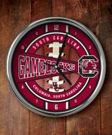 South Carolina Gamecocks NCAA Chrome Wall Clock