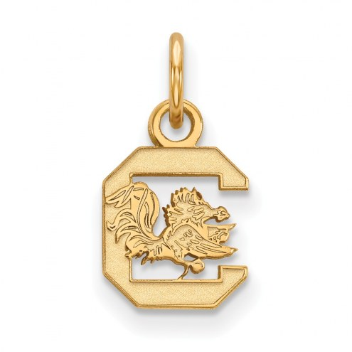 South Carolina Gamecocks NCAA Sterling Silver Gold Plated Extra Small Pendant