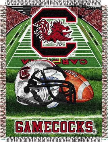 South Carolina Gamecocks NCAA Woven Tapestry Throw Blanket