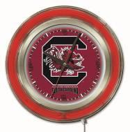 South Carolina Gamecocks Neon Clock