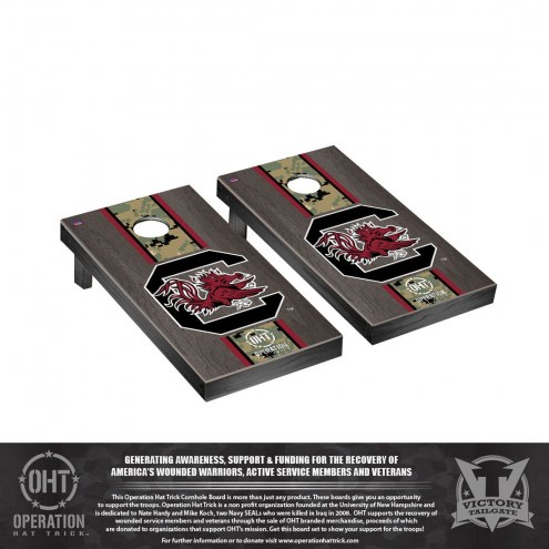South Carolina Gamecocks Operation Hat Trick Stained Cornhole Game Set