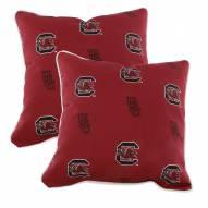 South Carolina Gamecocks Outdoor Decorative Pillow Set