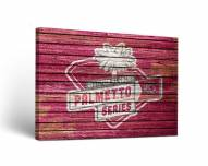 South Carolina Gamecocks Palmetto Weathered Canvas Wall Art