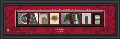 South Carolina Gamecocks Personalized Campus Letter Art