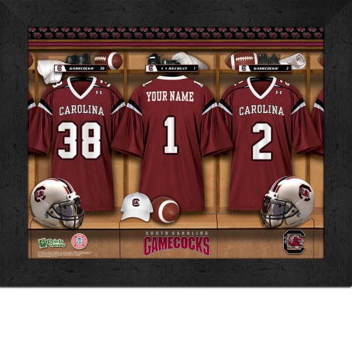 South Carolina Gamecocks Personalized Locker Room 11 x 14 Framed Photograph