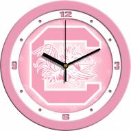 South Carolina Gamecocks Pink Wall Clock