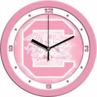South Carolina Gamecocks Pink Wall Clock
