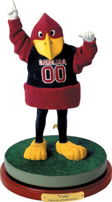 South Carolina Gamecocks Collectible Mascot Figurine