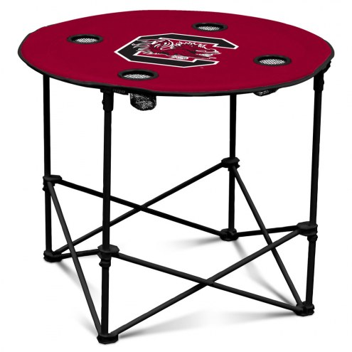 South Carolina Gamecocks Round Folding Table