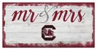 South Carolina Gamecocks Script Mr. & Mrs. Sign