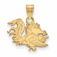 South Carolina Gamecocks Sterling Silver Gold Plated Small Pendant