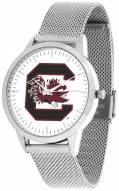 South Carolina Gamecocks Silver Mesh Statement Watch