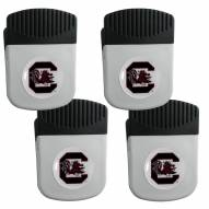 South Carolina Gamecocks 4 Pack Chip Clip Magnet with Bottle Opener