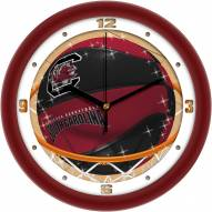 South Carolina Gamecocks Slam Dunk Wall Clock