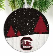 South Carolina Gamecocks Snow Scene Ornament