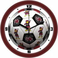 South Carolina Gamecocks Soccer Wall Clock