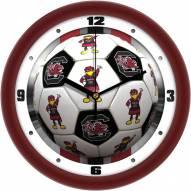 South Carolina Gamecocks Soccer Wall Clock