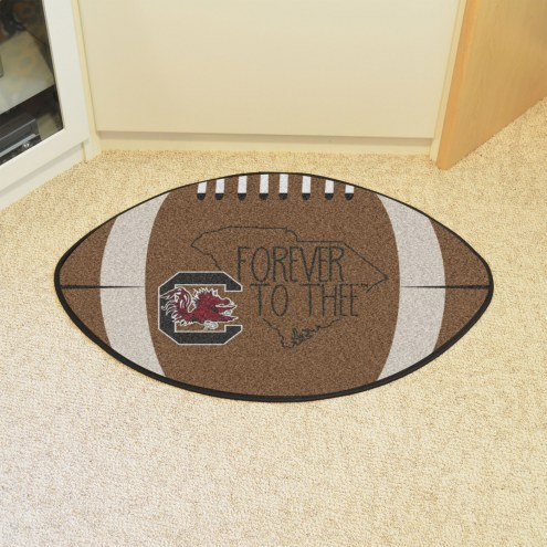South Carolina Gamecocks Southern Style Football Floor Mat