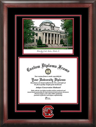 South Carolina Gamecocks Spirit Diploma Frame with Campus Image