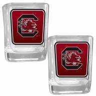 South Carolina Gamecocks Square Glass Shot Glass Set