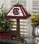 South Carolina Gamecocks Stained Glass Mission Table Lamp