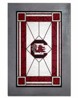 South Carolina Gamecocks Stained Glass with Frame