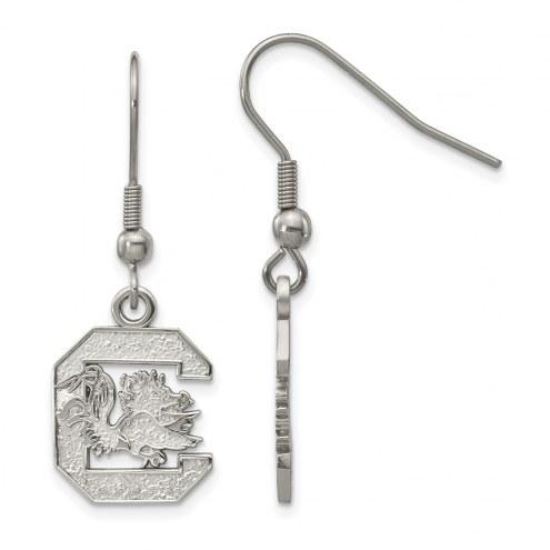 South Carolina Gamecocks Stainless Steel Dangle Earrings