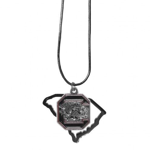 South Carolina Gamecocks State Charm Necklace